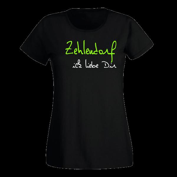 T-Shirt Zehlendorf Ick liebe dir für Frauen