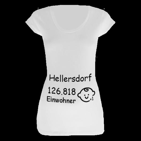 Hellersdorf Einwohner + 1 T-Shirt für Schwangere Frauen