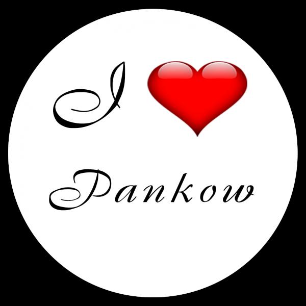 Aufkleber - I love Pankow (Rund)