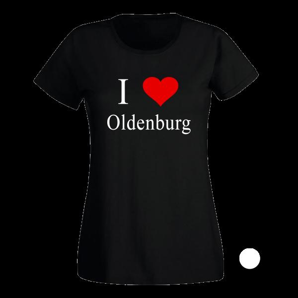 T-Shirt I Love Oldenburg (Schwarz/Weiß)