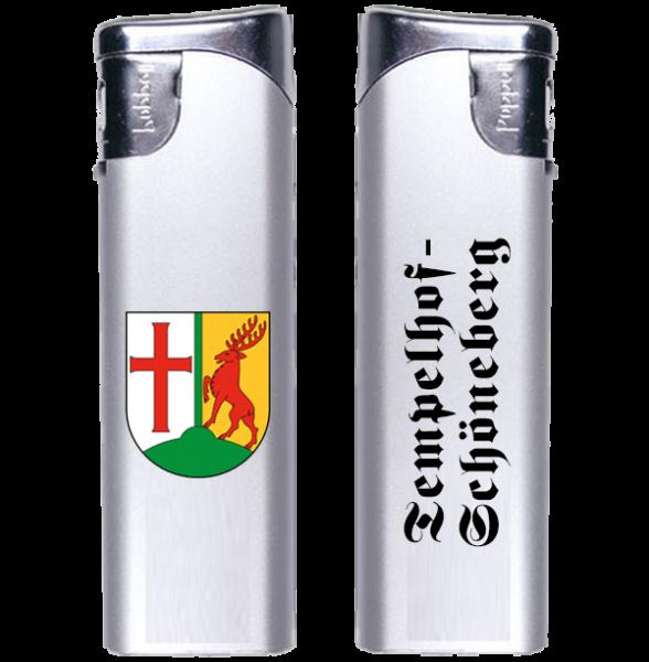 Feuerzeug Tempelhof-Schöneberg 2-seitig Wappen und Schriftzug altdeutsch