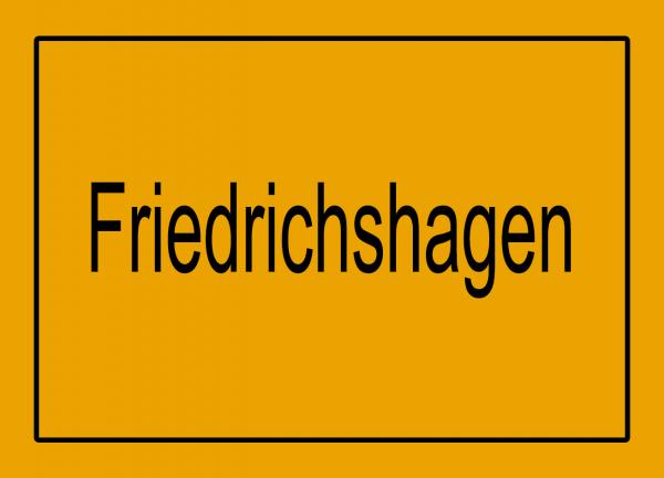 Aufkleber - Ortseingang Friedrichshagen
