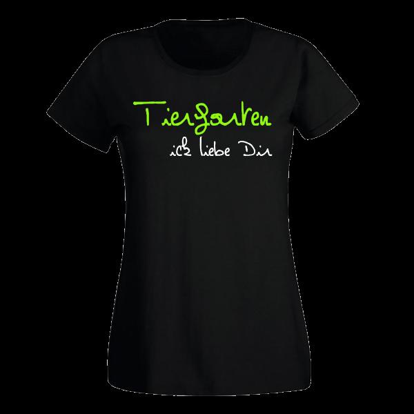T-Shirt Tiergarten Ick liebe dir für Frauen