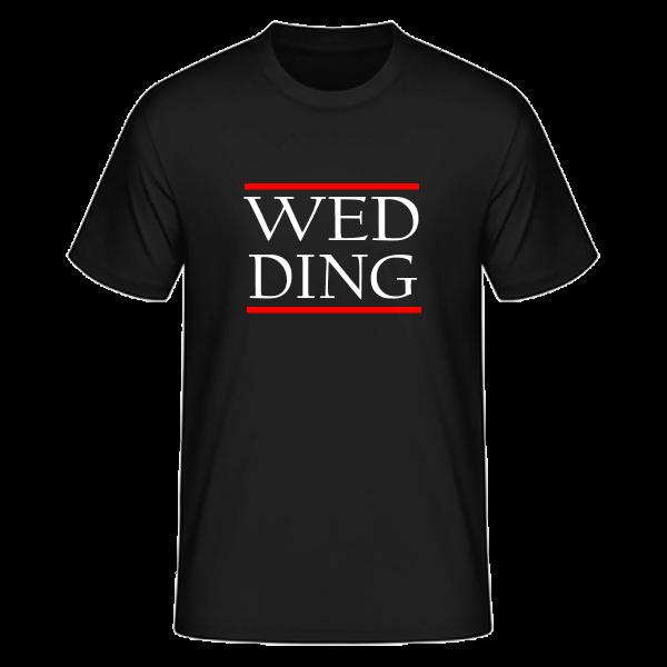 T-Shirt Silben WED-DING (Run DMC Style)