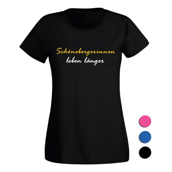 T-Shirt Schönebergerinnen leben länger