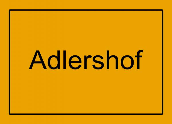 Aufkleber - Ortseingang Adlershof