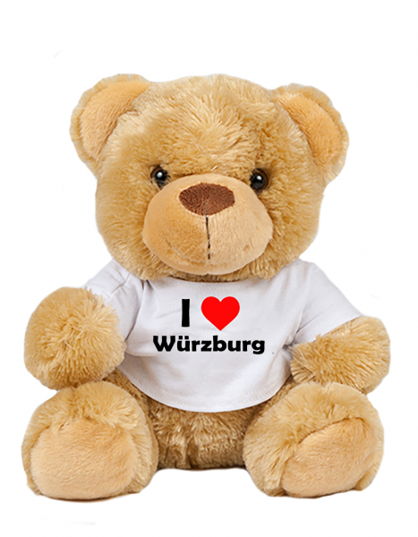 Teddy - I love Würzburg - Plüschbär Würzburg