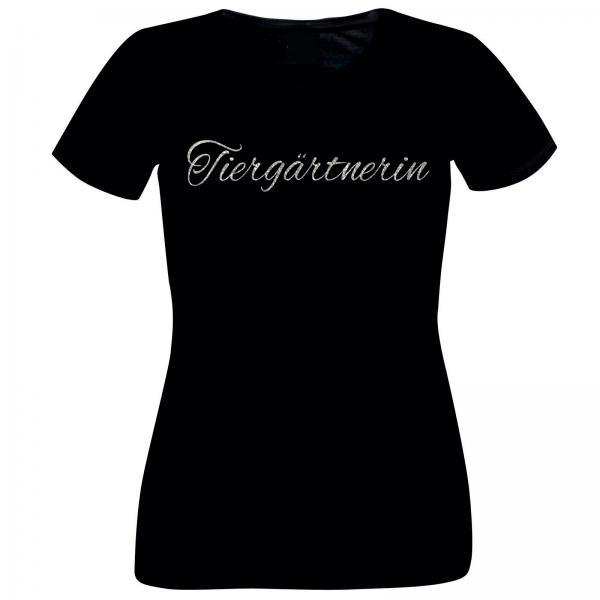 Girlie-Shirt Glitzer Tiergärtnerin