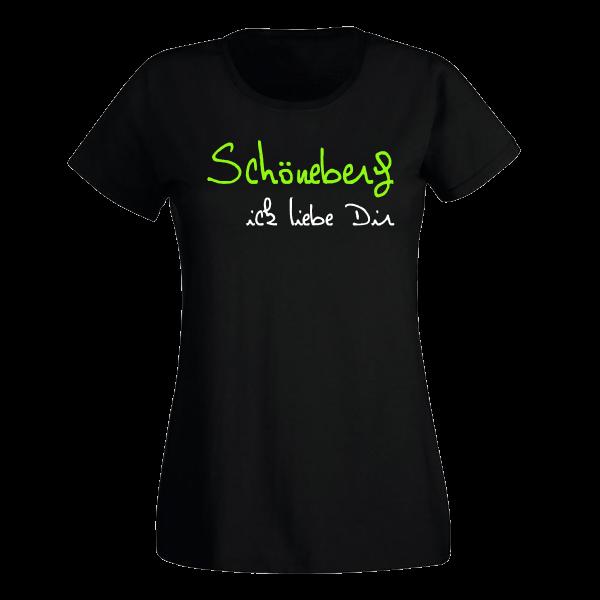 T-Shirt Schöneberg Ick liebe dir für Frauen