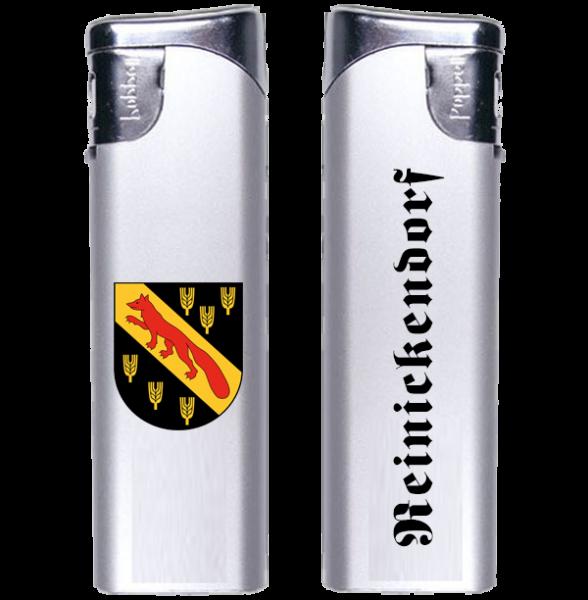 Feuerzeug Reinickendorf 2-seitig Wappen und Schriftzug altdeutsch