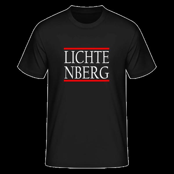 T-Shirt Silben LICHTE-NBERG (Run DMC Style)