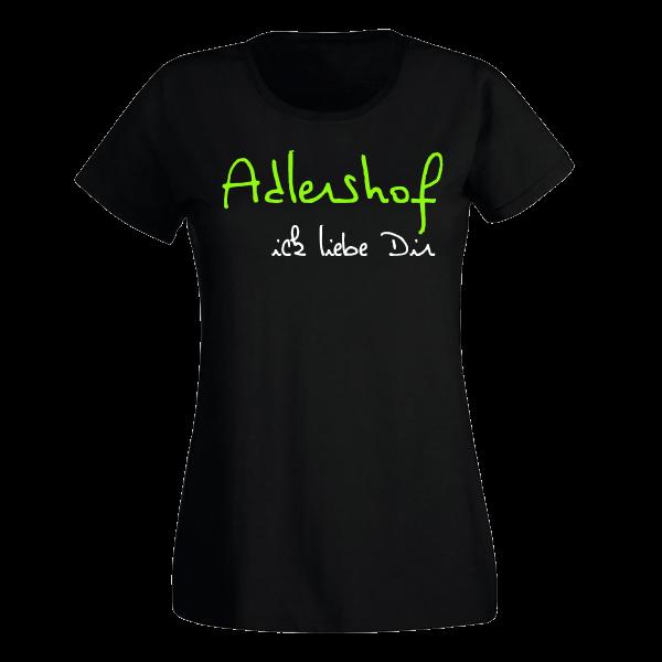 T-Shirt Adlershof Ick liebe dir für Frauen