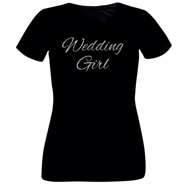 Girlie-Shirt Glitzer Wedding Girl