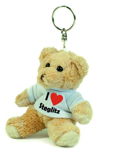 Teddy Schlüsselanhänger - I love Steglitz