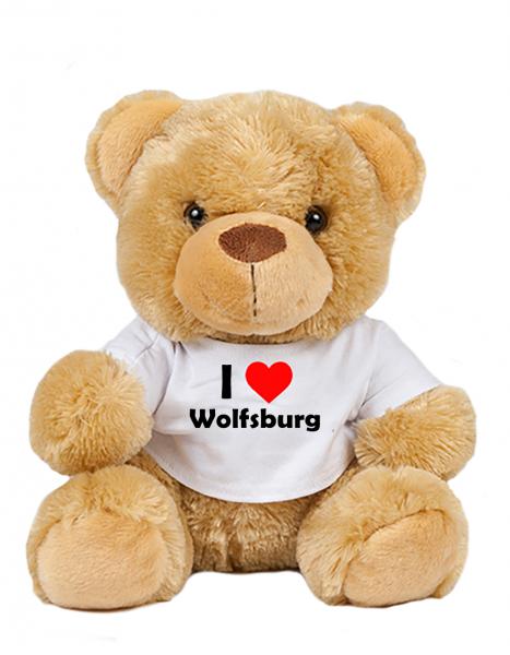 Teddy - I love Wolfsburg - Plüschbär Wolfsburg