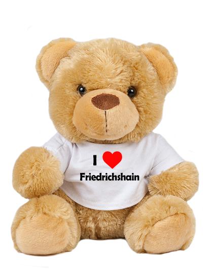 Teddy - I love Friedrichshain - Plüschbär Berlin Friedrichshain