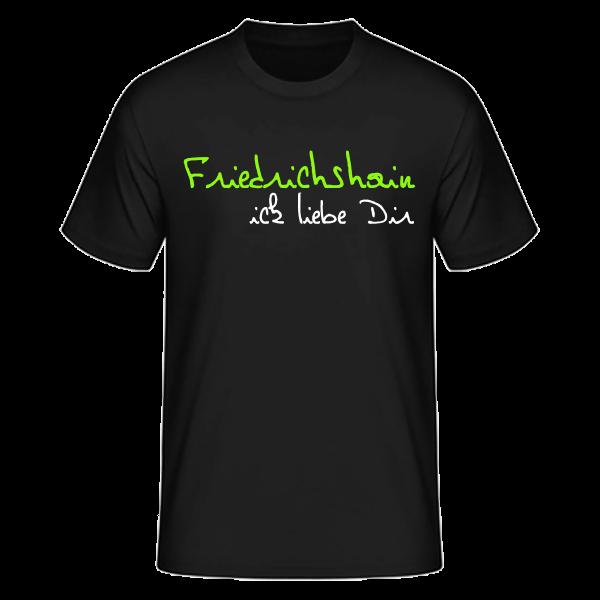T-Shirt Friedrichshain Ick Liebe Dir
