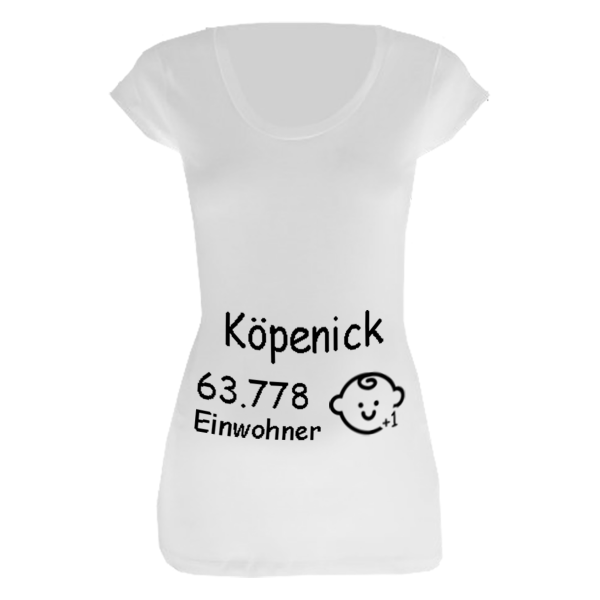Köpenick Einwohner + 1 T-Shirt für Schwangere Frauen