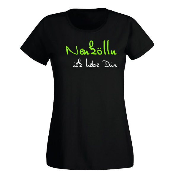 T-Shirt Neukölln Ick Liebe Dir für Frauen