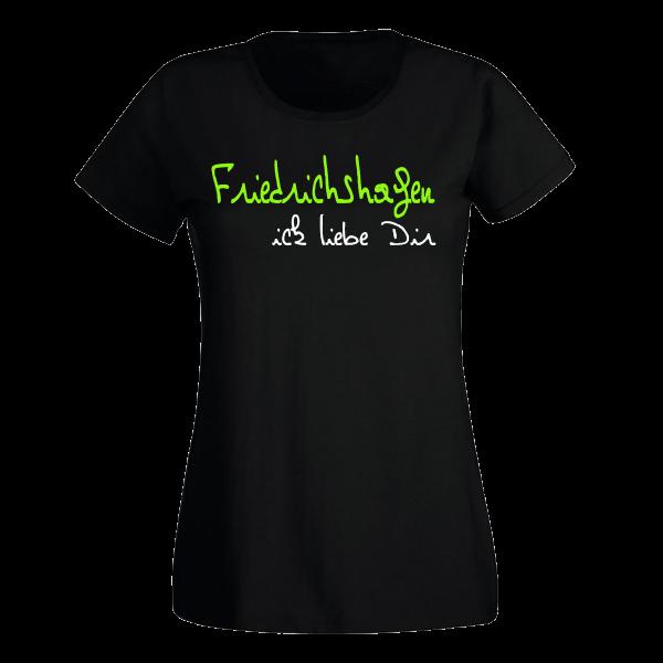 T-Shirt Friedrichshagen Ick liebe dir für Frauen