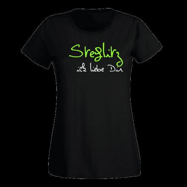 T-Shirt Steglitz Ick liebe dir für Frauen