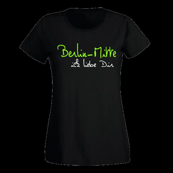 T-Shirt Mitte Ick liebe dir für Frauen
