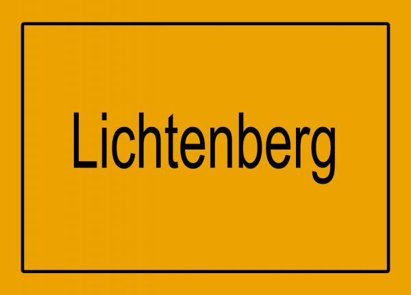 Aufkleber - Ortseingang Lichtenberg