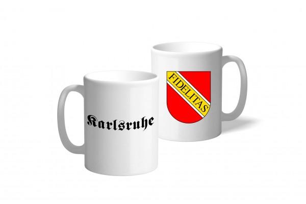 Tasse Wappen: Karlsruhe