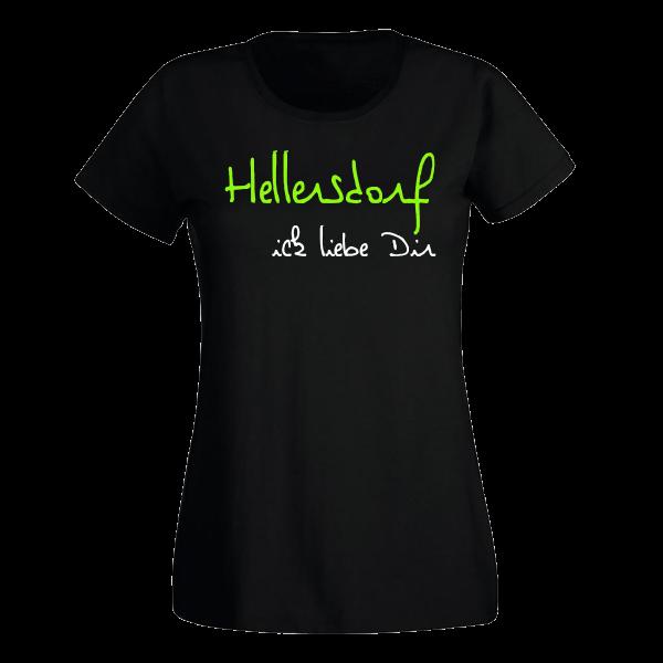 T-Shirt Hellersdorf Ick liebe dir für Frauen
