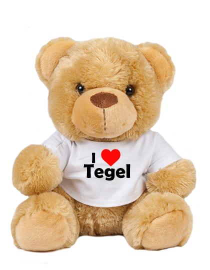 Teddy - I love Tegel - Plüschbär Berlin Tegel