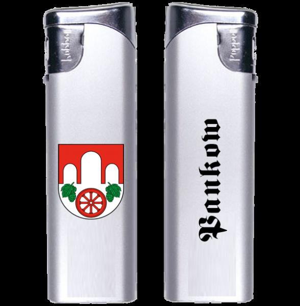 Feuerzeug Pankow 2-seitig Wappen und Schriftzug altdeutsch