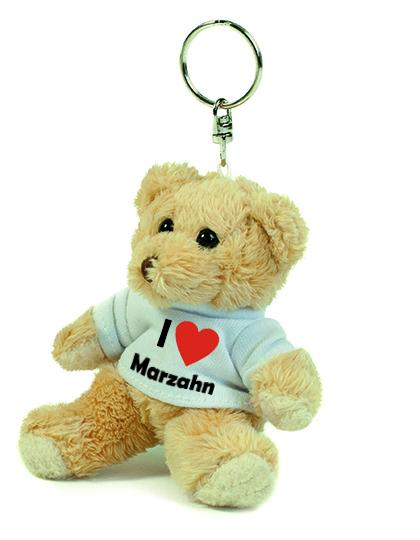 Teddy Schlüsselanhänger - I love Marzahn