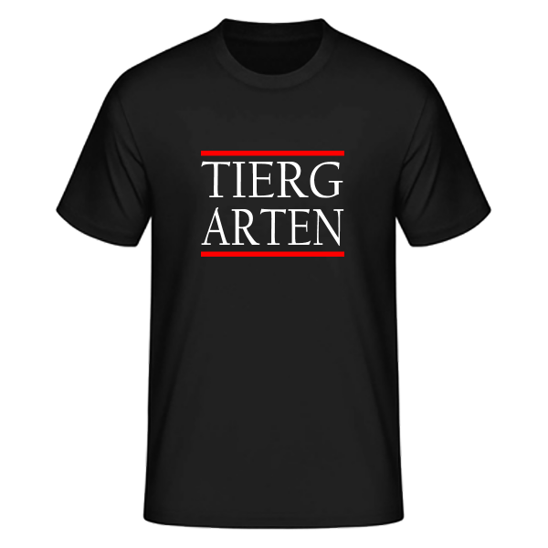 T-Shirt Silben TIERG-ARTEN (Run DMC Style)