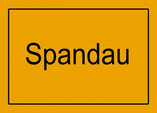Aufkleber - Ortseingang Spandau