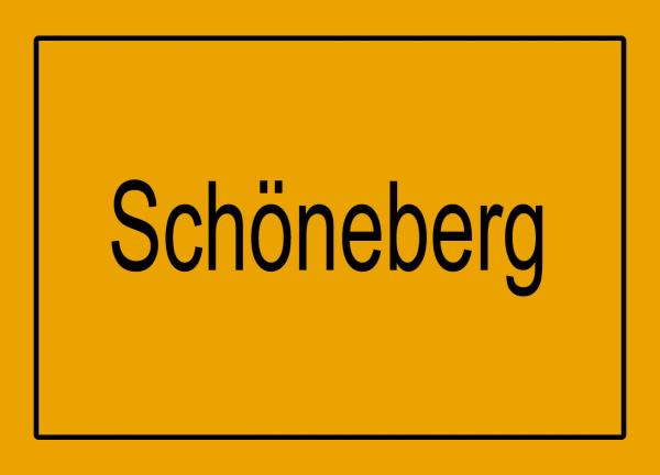 Aufkleber - Ortseingang Schöneberg