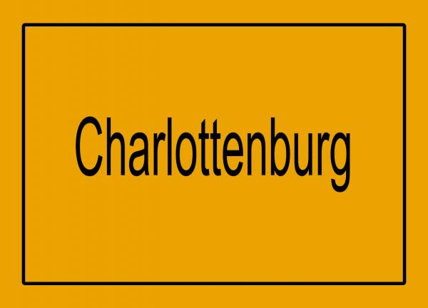 Aufkleber - Ortseingang Charlottenburg