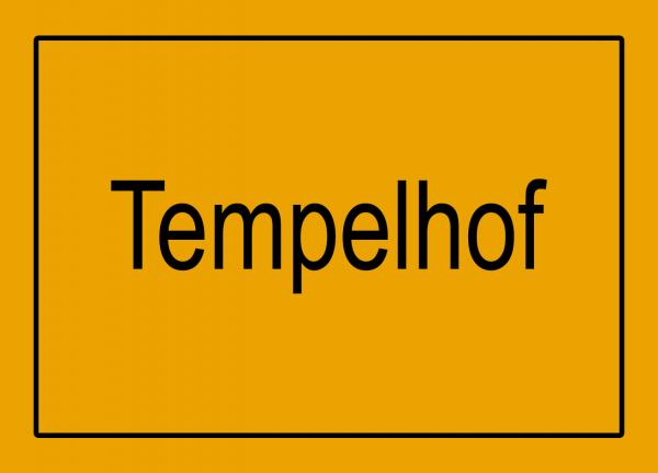 Aufkleber - Ortseingang Tempelhof
