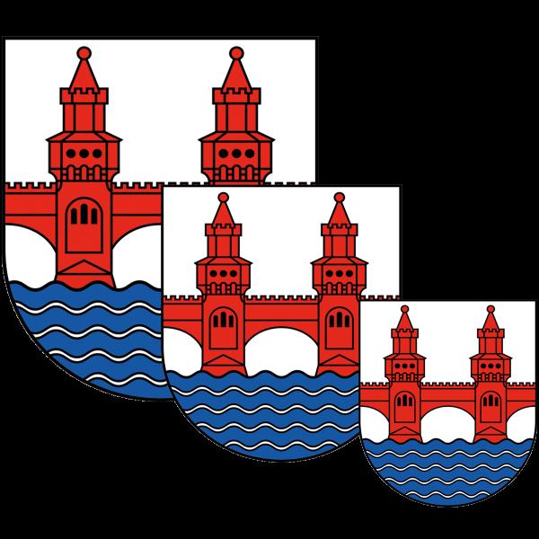 Aufkleber - Wappen Friedrichshain-Kreuzberg