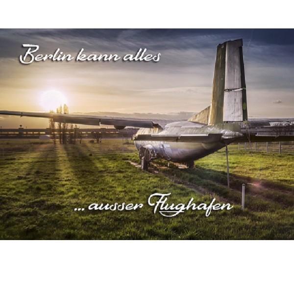 Flughagen Berlin Postkarte