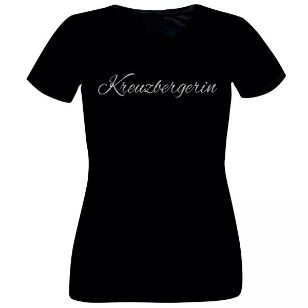 Girlie-Shirt Glitzer Kreuzbergerin