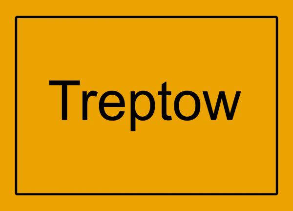Aufkleber - Ortseingang Treptow