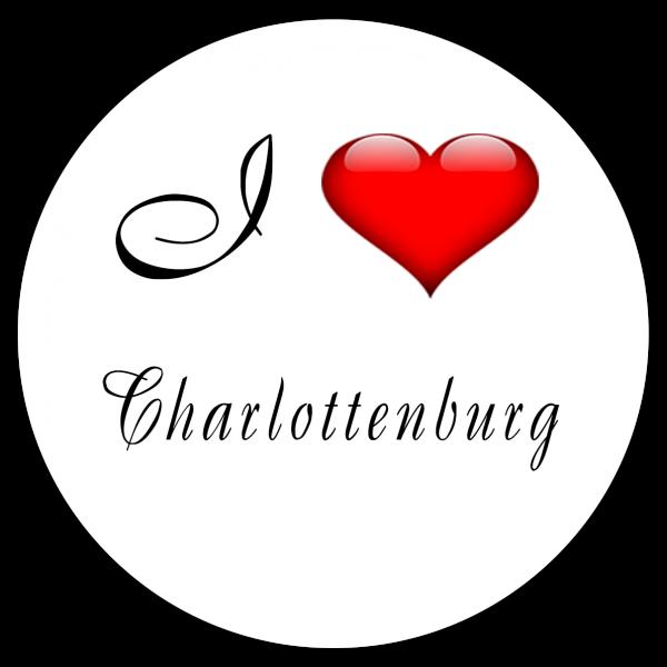Aufkleber - I love Charlottenburg (Rund)