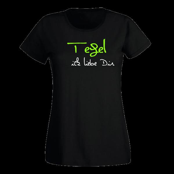 T-Shirt Tegel Ick liebe dir für Frauen