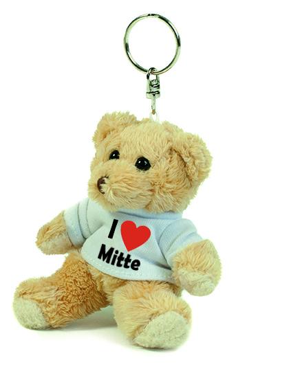 Teddy Schlüsselanhänger - I love Mitte