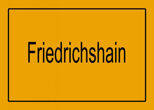Aufkleber - Ortseingang Friedrichshain