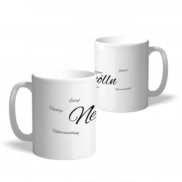 "Motiv-Tasse aus Porzellan mit Schriftzug ""Neukölln"""
