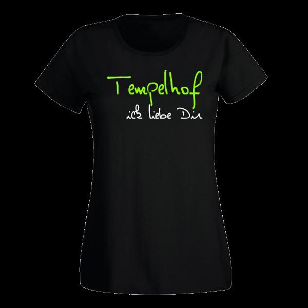 T-Shirt Tempelhof Ick liebe dir für Frauen