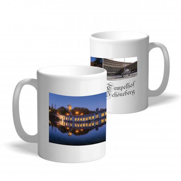 Kaffeetasse mit Motivdruck Tempelhof-Schöneberg Collage