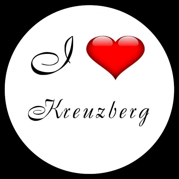 Aufkleber - I love Kreuzberg (Rund)