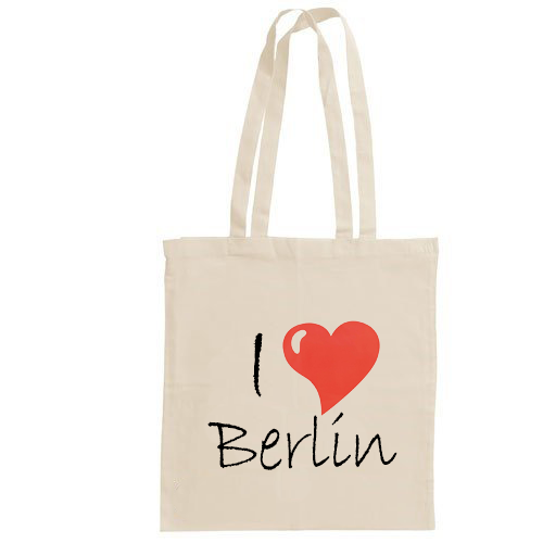 I love Berlin - Jutebeutel